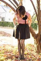 pink Loft blouse - black Expresss skirt - black Merona Target tights - black Sof