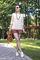 lace top tory burch top - cotton - linen Saturday Kate Spade shorts