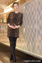 stuart weitzman boots - knit dress ALC dress