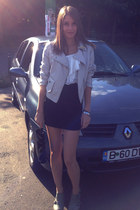 white PINK Casual shirt - black c&a skirt