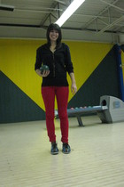 pants - bowling shoes shoes - top - sweater