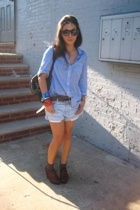 massimo duti shirt - Levis shorts - Dries Van Noten shoes - Target bracelet