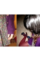 unknown sweater - H&M dress - DKNY tights - Marni shoes