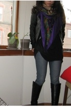 bycorpus jacket - Tsubi jeans - Steve Madden boots - American Apparel sweater