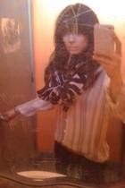 Tsubi jeans - vintage shirt - H&M scarf - vintage belt