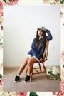 Black-comfy-vans-shoes-tan-floral-print-the-quiet-life-hat