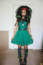 green lace rewind dress - army green ankle boots Mossimo boots