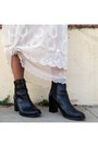 Black-ankle-boots-h-m-boots-white-vintage-dress-vintage-dress