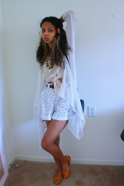 black mini purse Target bag - nude crop top Charlotte Russe shirt - white shorts