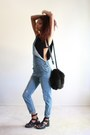 Black-faux-fur-ami-clubwear-purse-black-crochet-image-bra