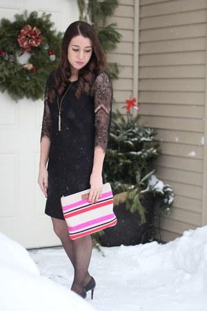 kate spade bag - solitaire dress - Nine West heels - Lauren Conrad necklace