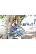 jeans pull&bear jeans - Aldo sunglasses - pull&bear sneakers