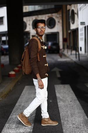 pull&bear boots - PiazzaItalia sweater - Jule bag