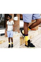 minga berlin socks - Piazza Italia shorts - nike sneakers - cotton Zara t-shirt