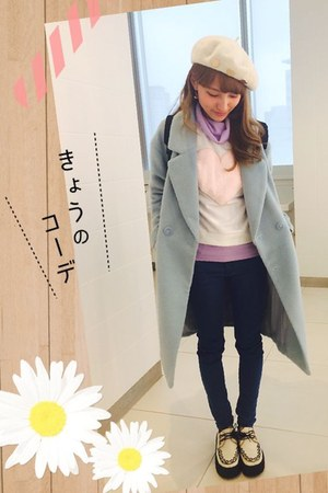light blue Jouetie coat - navy gu jeans