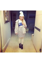 light purple e hyphen world gallery coat - blue Wego shoes - white Nadia hat