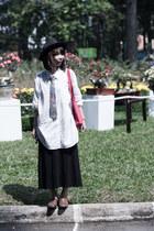 florals Topman tie - black maxi dress H&M dress - black unknown hat