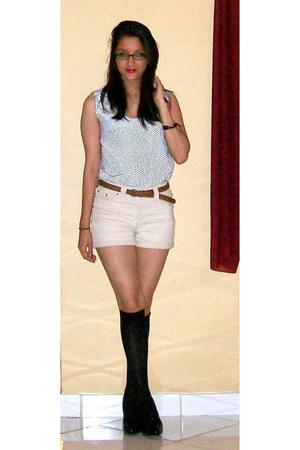 Forever 21 shorts - American Apparel blouse - Steve Madden heels