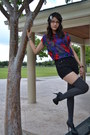 Knitted-forever-21-hat-knee-high-socks-forever-21-tights-high-waisted-americ