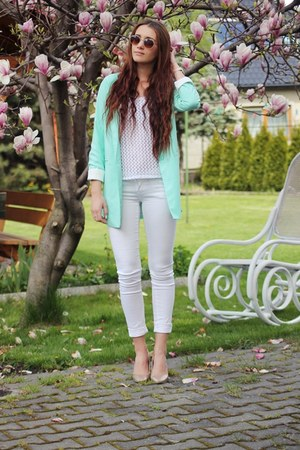 light blue Sheinside blazer