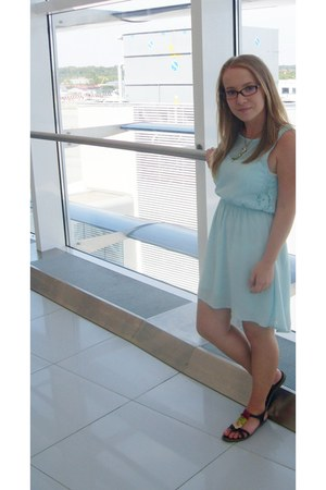 light blue Bershka dress