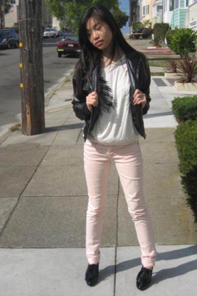 lux uo jeans - f21 jacket