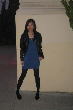 H&M dress - f21 jacket - shoes