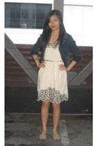 blazer - f21 dress - Urban Outfitters necklace