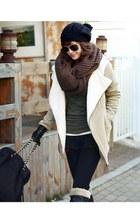 beige faux lamb fur Wholesale Dress jacket