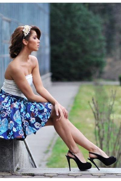 navy deital Roxana Simon dress