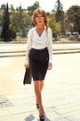 White-silk-no1-shirt-black-clutch-rinascimento-bag