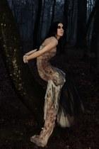 light brown designer Roxana Simon dress