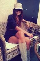 brown Zara belt - light brown Cadenzza boots - dark brown H&M dress