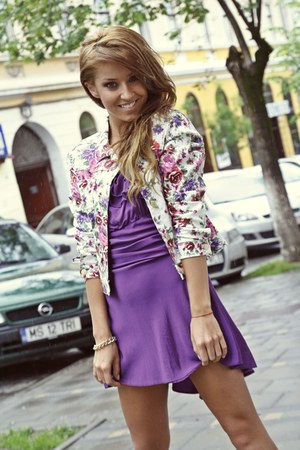 light pink raus jacket - amethyst raus dress