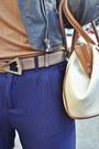 Beige-leather-calvin-klein-bag-bronze-cognac-bershka-top
