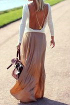 tan chanel detail random dress
