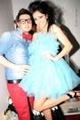 Light-blue-roxana-simon-dress-black-high-heeled-random-sandals-aquamarine-ma