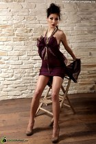 maroon chic Roxana Simon dress