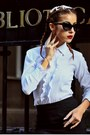 Black-sunglasses-h-m-trend-accessories-ivory-ruffle-random-shirt