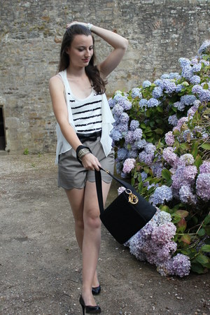 christian dior bag - The Kooples shorts - karen millen top