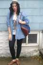 Fedora-hat-backpack-bag-t-shirt-oxfords-loafers