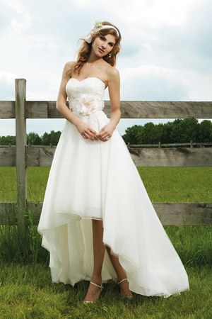 white a-linesatin Alizeebridal ring - white satin dress Alizeebridal ring