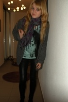 t-shirt - H&M coat - Ebay leggings