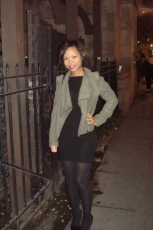 Mossimo jacket - BCBG dress - Wolford leggings
