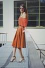 Crimson-lespecs-sunglasses-h-m-trend-skirt-bik-bok-top-zara-heels