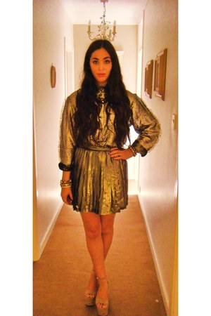 Topshop skirt - silver metallic vintage shirt