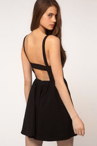 Women's Summer Backless Sexy Strap Slim Sleeveless Dress - black