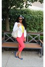 White-nordstrom-blazer-black-chloe-sunglasses-salmon-nordstrom-pants-yello