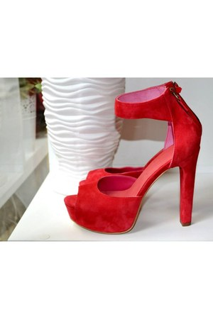 red Boston heels