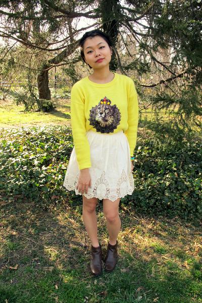 pixiemarket sweater - Topshop skirt
